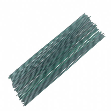Florist Stub Wires Green Wrapped in Paper x 20  (28223 )